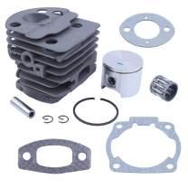 Haishine Cylinder Piston Bearing Gasket Kit Fit Husqvarna 51 55 Rancher 46MM Chainsaw 503 16 91-71