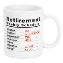 Funny Coffee Mug Retired Schedule Calendar Mugs Retirement Gifts for Women Men Dad Mom Retired Mugs Gift Ideas for Coworkers Office & Family11 oz