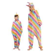 Kids Adult Sleepsuit Onesie Pajamas Flannel Animal Nightwear Outfit Unisex