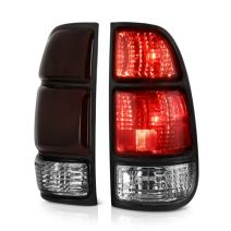 VIPMOTOZ OE-Style Smoke Red Lens LED Tail Light Housing Lamp Assembly Replacement Pair For 2000-2006 Toyota Tundra Regular & Access Cab Model, Driver & Passenger Side