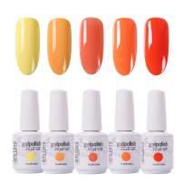 Arte Clavo 15ml Varnish Soak Off UV Led Nail Gel Polish Nail Art Salon Set 503 of 5 Colors