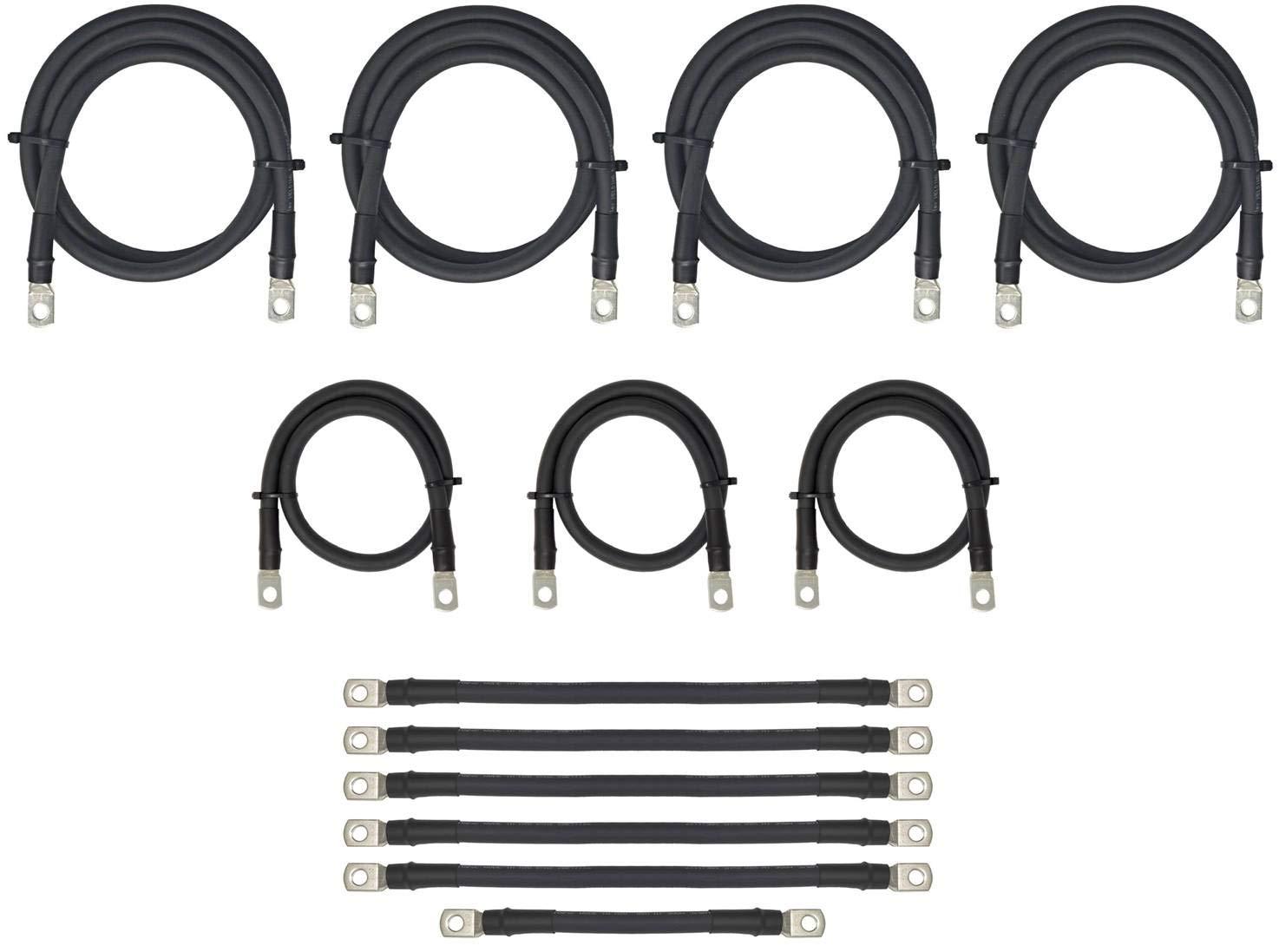 Aftermarket 4 Gauge Golf Cart Battery Cables Fits EZGO 36V 36 Volt TXT Golf Carts (Battery + Controller/Motor Cables) Complete 13 Piece Set