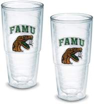Tervis 1042417 Florida A M University Emblem Tumbler, Set of 2, 24 oz, Clear