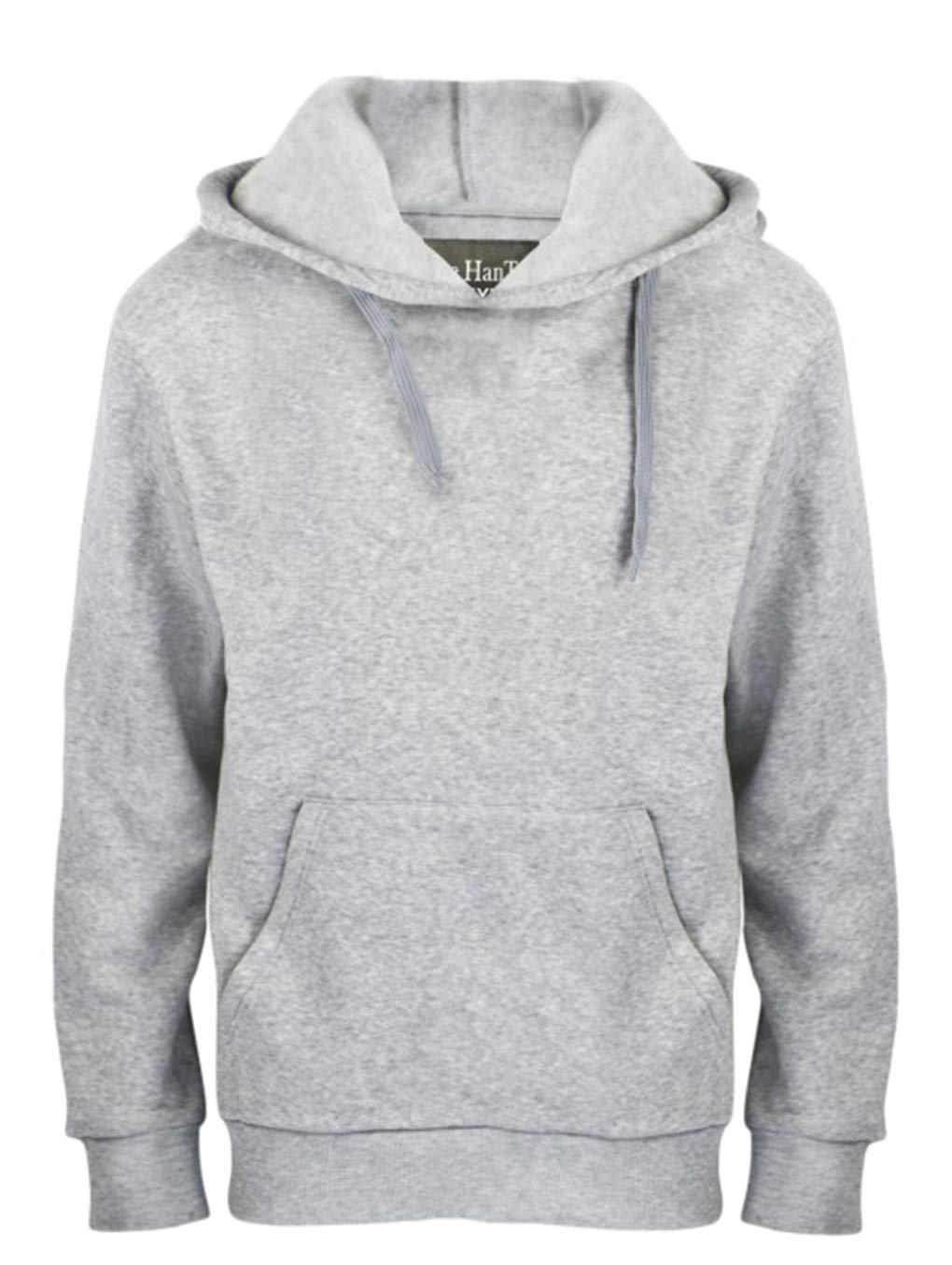 Leehanton Men's Pullover Fleece Hoodies Soft & Cozy Classic Lightweight Hooded Sweatshirts