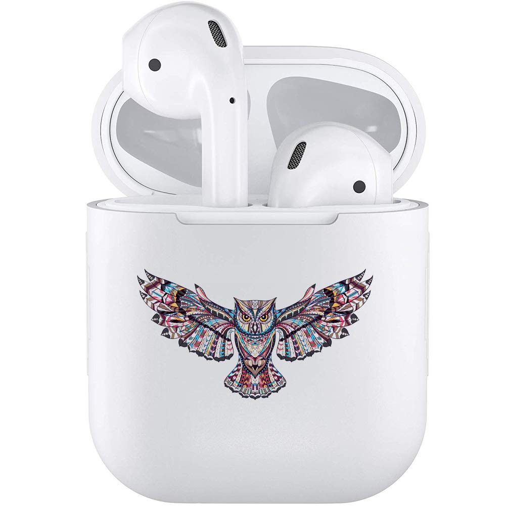 Silicone TPU Cute Accessories Holder Case Cover Skin with Keychain Compatible with Airpods Air Pods 1 2 Lovely Animal