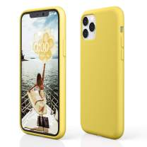 "pcgaga iPhone 11 Pro Max Silicone Case, iPhone 11 Pro Max Case, Slim Shockproof Liquid Silicone Case (with Microfiber Lining) for iPhone 11 Pro Max, 6.5"" 2019 (Yellow)"