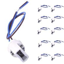 Bonlux 10-pack G9 Light Bulb Socket Ceramic Lamp Base Holder with Cable Lead