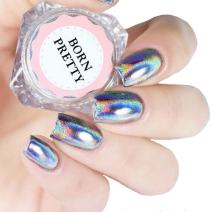 BORN PRETTY 0.5g Holographic Laser Powder Iridescent Pigment trim Nail Art Glitter