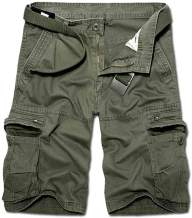 KOCTHOMY Men's Cotton Summer Relaxed Fit Outdoor Cargo Shorts