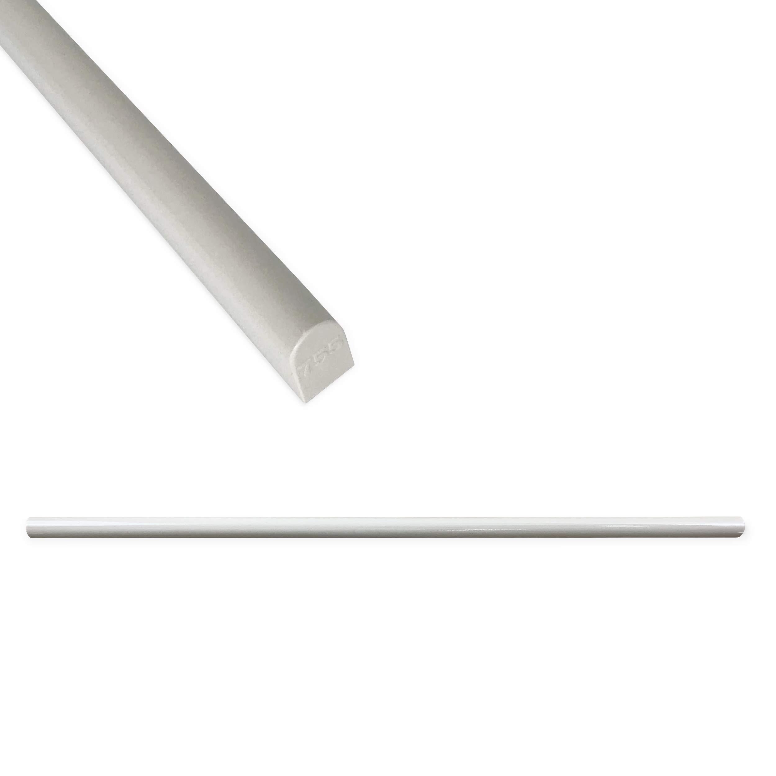 High Pencil Tile Trim 1/3 x 12 inch Shower Edge Ceramic Tile Transition Liner Backsplash Wall Molding - Polished Gray (12 Pack)