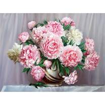 Diamond Painting Kits for Adults Kids, 5D DIY Peony Diamond Art Accessories with Round Full Drill for Home Wall Decor - 15.7×11.8Inches
