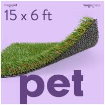 MEGAGRASS Artificial Grass Mat for Dogs [Deluxe Realistic Synthetic Pet Turf Rug, Fake Grass Carpet for Puppy Potty Training Patch, Indoor or Outdoor Pee Pads]