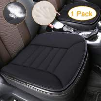 Car Seat Cushion Pad Sciatica Pillow for Sitting Memory Foam Seat Cushion Comfort Seat Protector with Non Slip Bottom for Car Driver Seat Office Chair Home Use (1 Pack, Black)