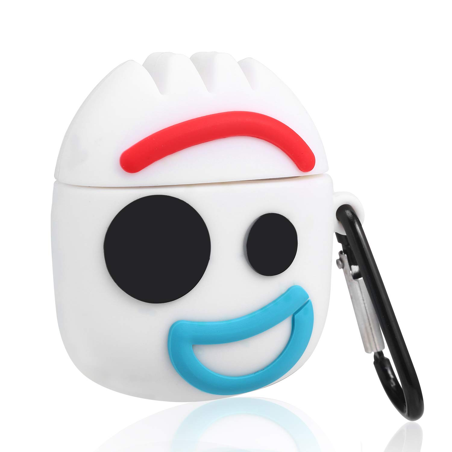 Gift-Hero Mr Fork Cartoon Case for Airpods, Funny Cute Pattern Design for Girls Boys Kids, Accessories Anti-Lost Carabiner Protective Fun Fashion Character Skin Soft Silicone Cover for Air pods 2/1