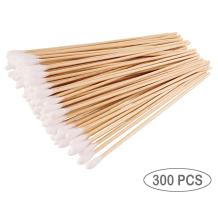 """Cotton Swabs For Beauty & Personal Care, Long Cotton Tipped Applicator Sticks With Wooden Handle, 6"""" Cleaning Detailing Stick Tool For Model Making, Ceramics, Jewelry, Fabric Decor,Hobby (300)"""