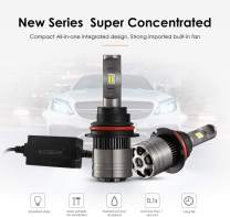 Auxbeam Led Headlight Bulbs F-T1 Series 9004 Led Headlight Bulb 70W 8000LM 6000K Cool White LED Chips Hi-Lo Beam with Temperature Control