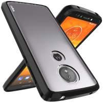 Moto E5 Plus Case, Moto E5 Supra Case, OUBA [Shock Absorption] Air Hybrid Armor Defender Protective Case Crystal [Clear] Back Cover Compatible for Motorola Moto E Plus (5th Generation) - Black