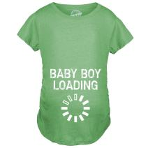 Crazy Dog T-Shirts Maternity Baby Boy Loading Funny Nerdy Pregnancy Announcement T Shirt