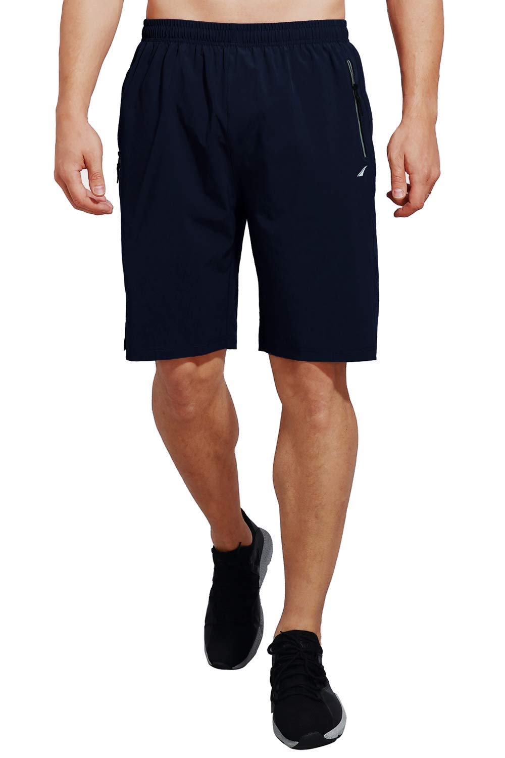 VAYAGER Mens Athletic Shorts 9 Inch Running Workout Short Quick Dry Mesh Liner with Zipper Pockets