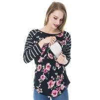 2020 Women Long Sleeve Maternity Nursing Tops Casual Shirts for Breastfeeding