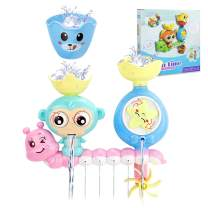 Bath Toys, Toddler Bathtub Toys with Waterfall Station Toy, Bath Toys for Toddlers Kids Babies 1 2 3+ Year Old Boys Girls