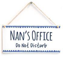 "Meijiafei Nan's Office Do Not Disturb - Stylish Office Door Plaque with Blue Border 10"" X 5"""