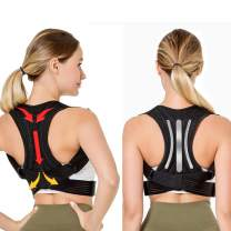 Scienlodic Back Straightener Posture Corrector for Women and Men,Straight Steel Plates,Adjustable Scoliosis Back Humpback Correction Brace,Neck,Shoulder Support for Pain Relif, Plus Size