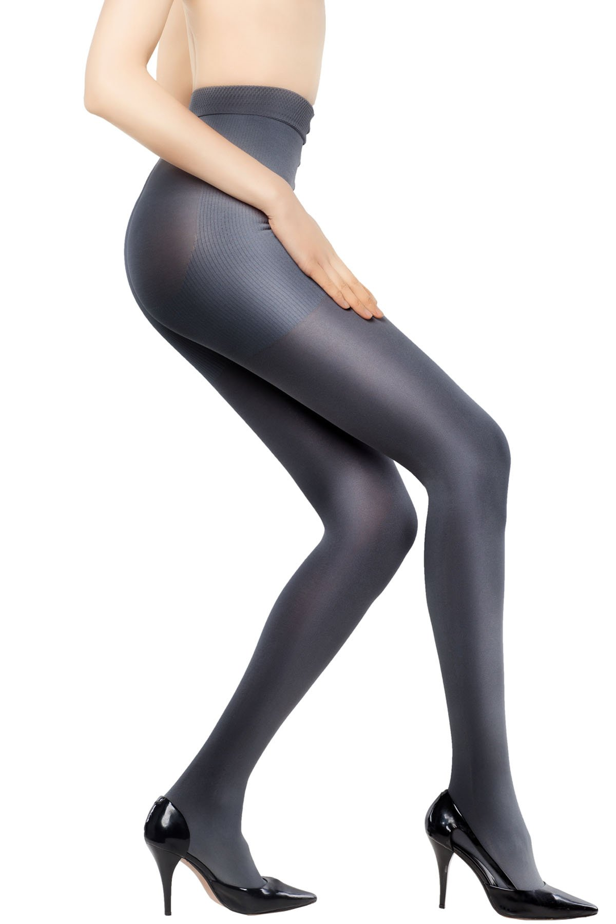 +MD 15-20mmHg Women's Graduated Compression Pantyhose Medical Quality Ladies Support Stocking DarkGray S