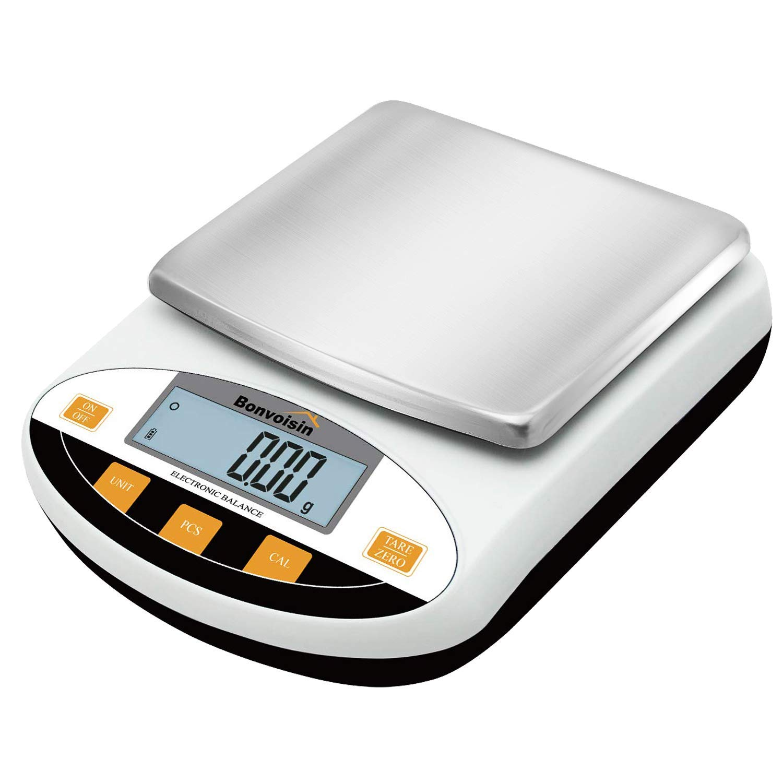 Bonvoisin Lab Scale 5000gx0.01g Digital Precision Analytical Balance 10mg High Precision Electronic Balance Jewelry Scale Kitchen Scale Scientific Scale Laboratory Scale Balance (5000gx0.01g)