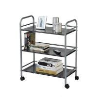 GEYUEYA Home Pan Pot Lid Organizer Cookware Rack Holder Height Adjustable for Kitchen (gray)