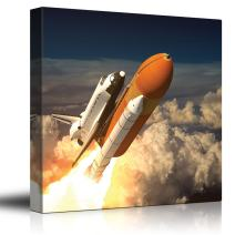 wall26 - NASA's Rocketship Being Launched to Outer Space - Canvas Art Home Art - 24x24 inches