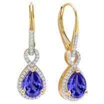 Dazzlingrock Collection 10K Infinity Dangling Earrings, Yellow Gold