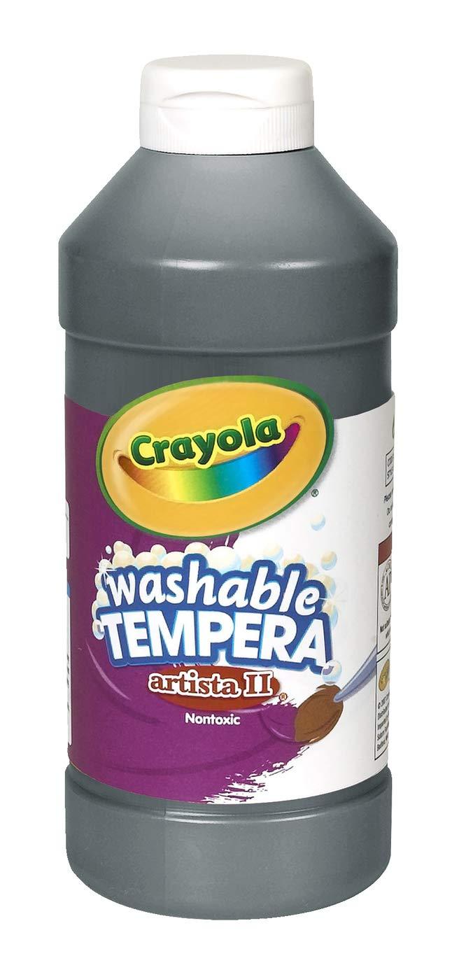 Crayola Artista II Washable Tempera Paint in Black, Painting Supplies, 16oz