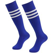 J'colour Soccer Socks, Unisex Knee High Striped Baseball football Sock 2/6/10 Packs