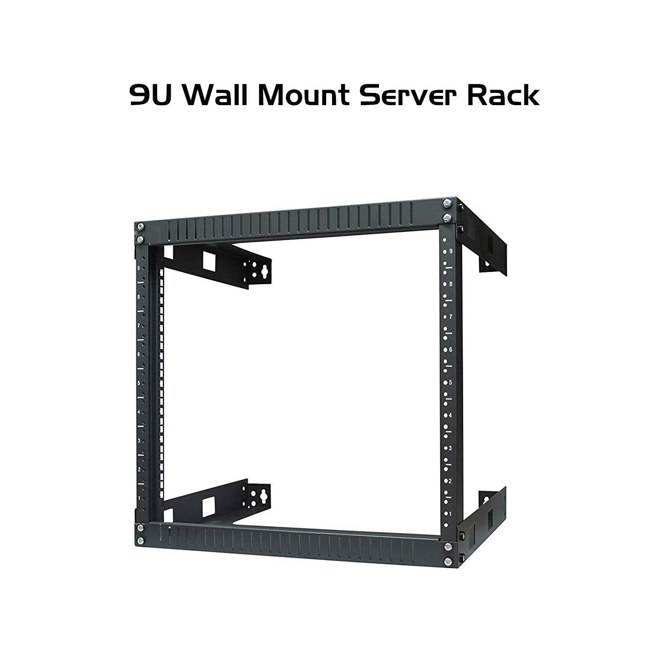 "Ares Vision 9U Steel Wall Mount, Open Air Frame,19"" Wide Server Equipment Rack (9U)"