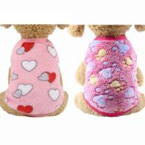 YIKEYO Set of 2 Puppy Clothes for Small Dogs Boy Girl Winter Warm Cute Sweaters for Chihuahua Yorkies Dachshunds Male Female