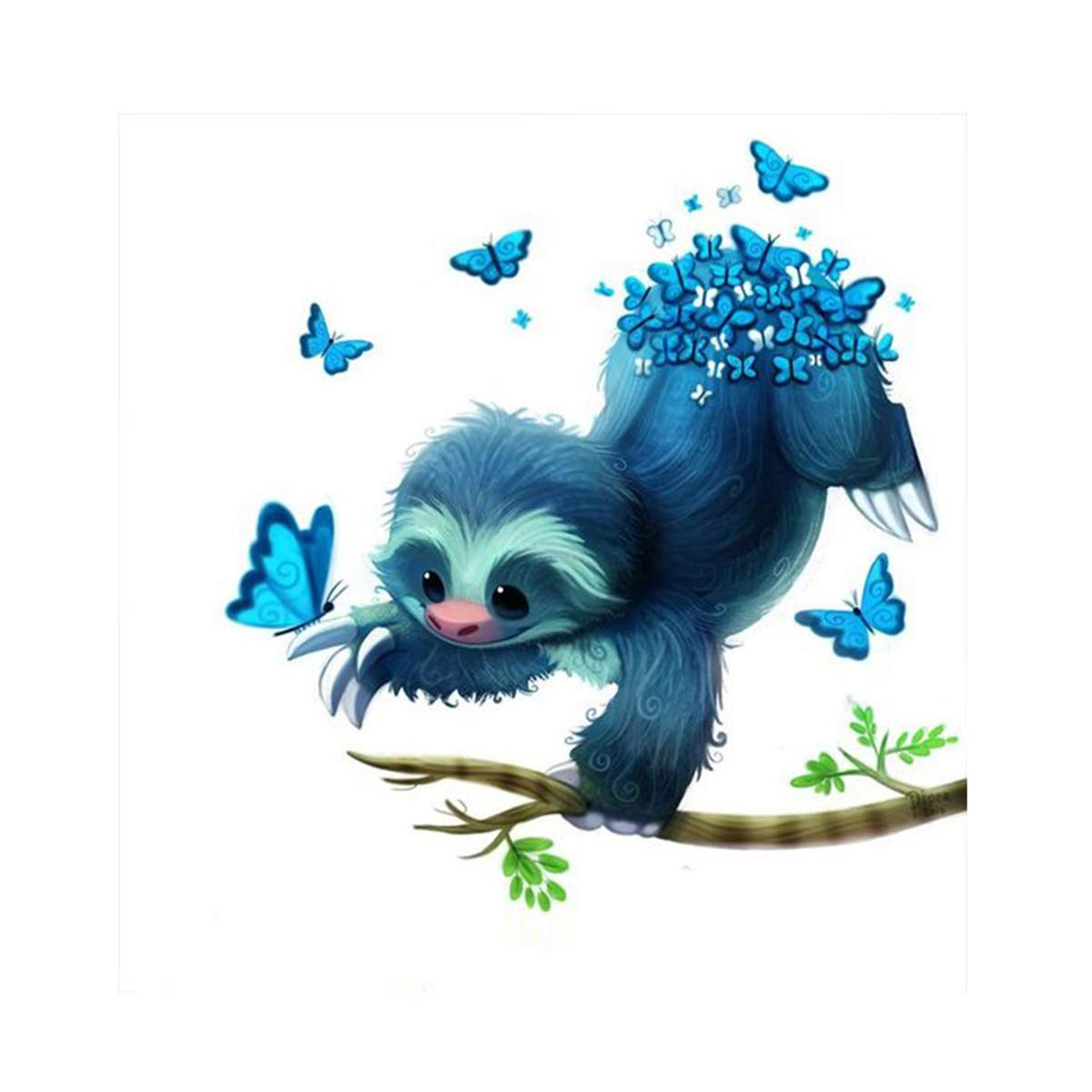5D Diamond Painting for Adult DIY Full Drill Diamond Art Kits Square Rhinestone Embroidery by Numbers Cute Sloth 11.8X15.7inch