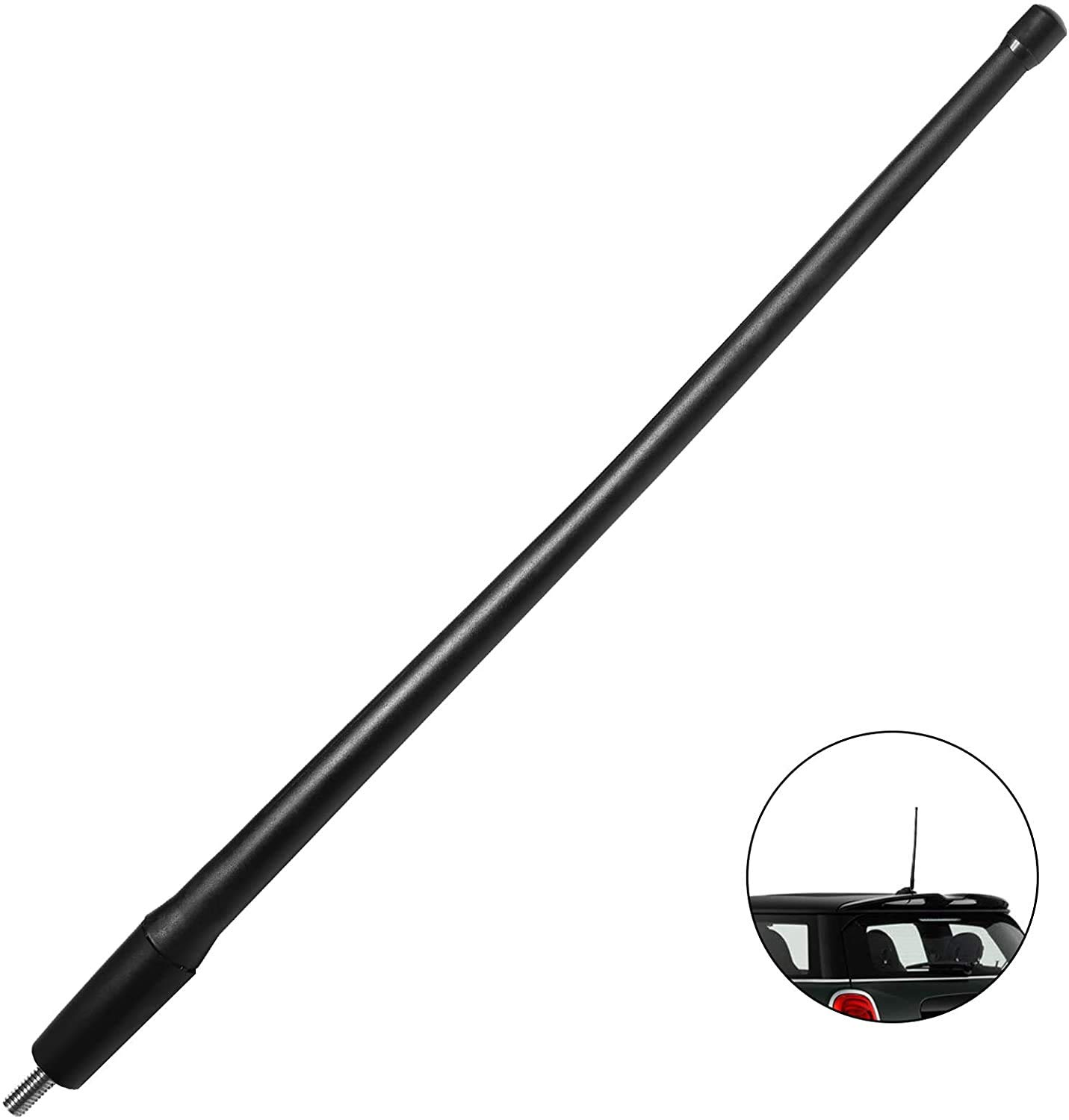 JAPower Automotive Antenna Compatible with Mini Cooper 2001-2018   13 inches - Black