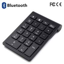 Bluetooth Number Pad, Wireless Numeric Keypad - Slim 22-Key Financial Accounting Numeric Keypad External Numpad Keyboard Extensions for Data Entry in Excel for Laptop, Tablets, PC, Windows, Notebook.