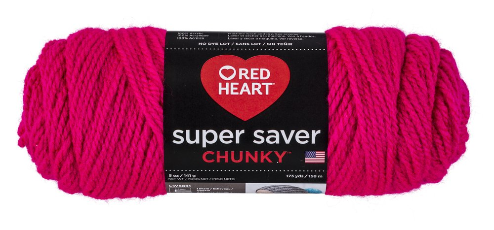Red Heart Super Saver Chunky, Grenadine Yarn