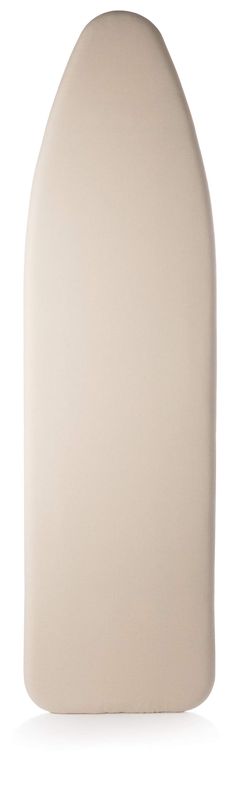 TIVIT Ironing Board Cover 18 x 54 Wide Chemical Free Eco-Friendly Padded Covers - Unbleached, Untreated Natural Cotton & Wool Pad - 2 Layer, 3 Fastener Straps, Pull Bungee Cord - Made in Italy