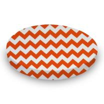 SheetWorld Fitted Oval (Stokke Mini) - Orange Chevron Zigzag - Made In USA