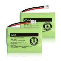 iMah AAA 3.6V 900mAh Ni-MH Battery for Summer 29030-10 29600-10 28650 29000 29030, Connector Also fit Motorola Baby Monitor (MBP33 MBP36 3.6V 900mAh Version) MBP843CONNECT MBP853CONNECT, 2-Pack