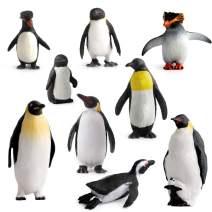 Fantarea Ocean Sea Animal Model Figures Series Arctic Penguin Family Figurines Collection Gift Wild Life Playset(9 pcs)