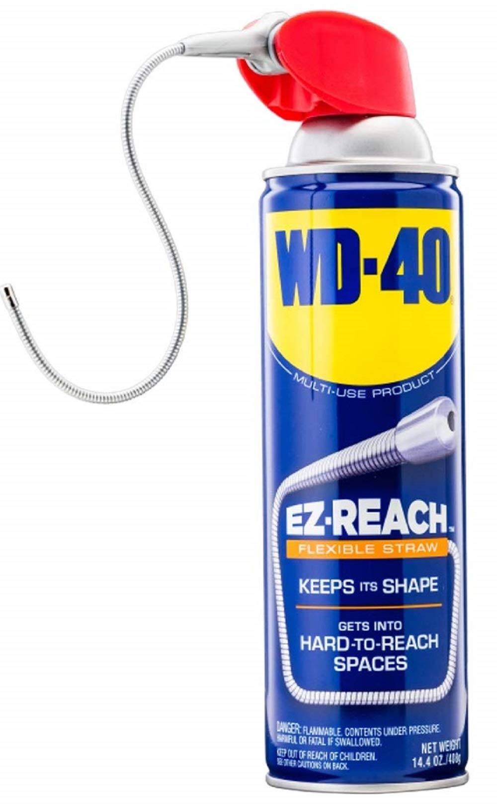 WD-40 Multi-Use Product - Multi-Purpose Lubricant with EZ-REACH Flexible Straw. 14.4 oz. (6 Pack)