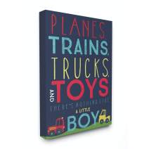 Stupell Industries Planes, Trains, Trucks and Toys Canvas Wall Art, 16x20, Design By Artist Heather Rosas