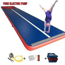 Sinolodo Inflatable Air Track 8 inches Thick Gymnastics Tumbling Mats for Kit Inflatable Gym Air Mat Gymnastics Equipment