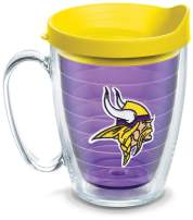 Tervis NFL Minnesota Vikings Primary Logo Tumbler with Emblem and Yellow Lid 16oz Mug, Amethyst