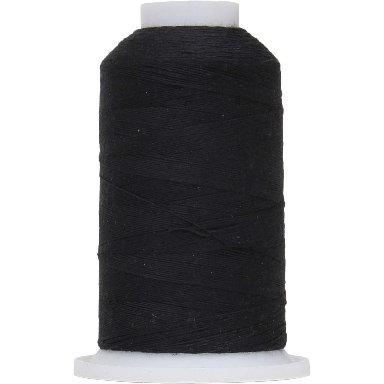 Threadart Polyester All-Purpose Sewing Thread - 600m - 50S/3 - Black