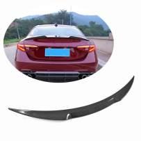 MCARCAR KIT Trunk Spoiler fits Alfa Romeo Giulia Quadrifoglio Sedan 2015-2019 Factory Outlet Carbon Fiber Rear Tail Lip Deck Boot High End Wing